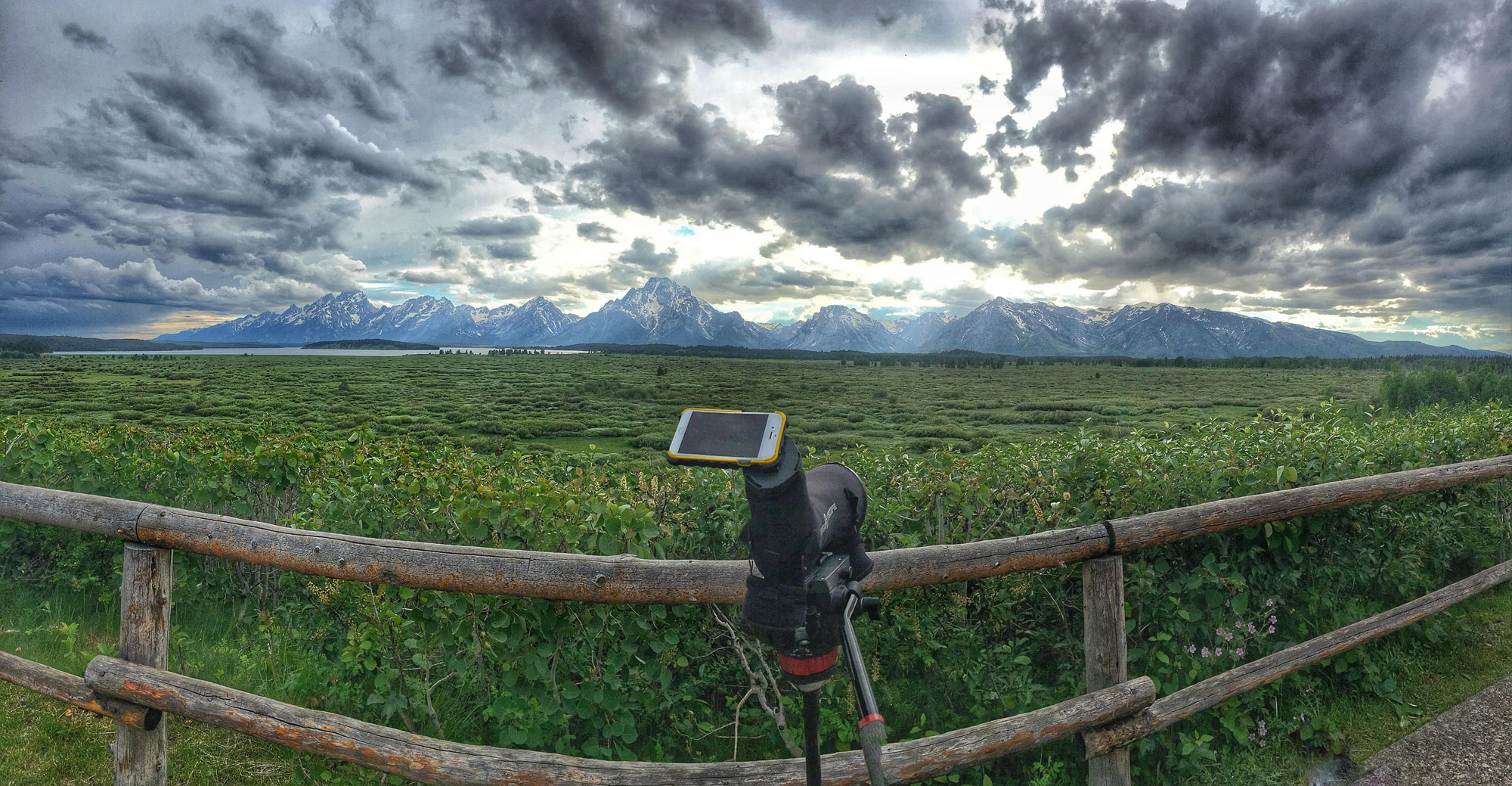Phone Skope Scoping at the Grand Tetons