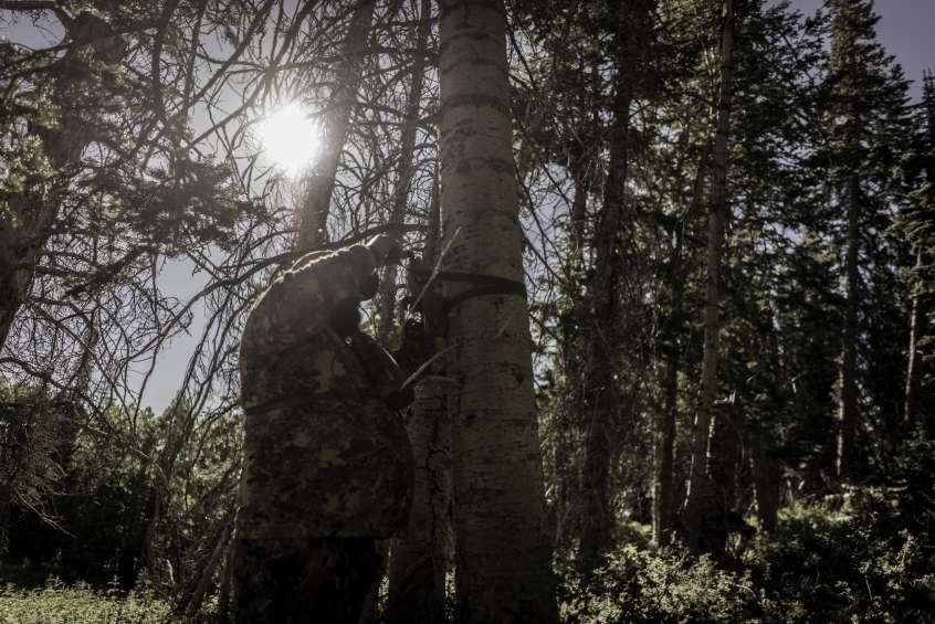 Travis Kochevar Checking Trail Cameras in Utah