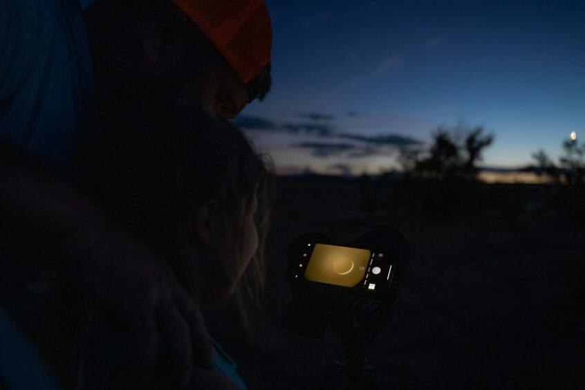 Digiscoping moon