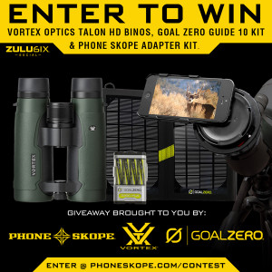 Vortex Optics and Goal Zero giveaway contest