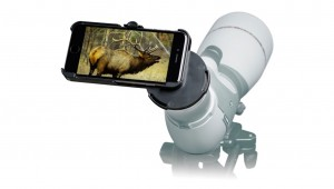 Using a cell phone for spotting and scoping