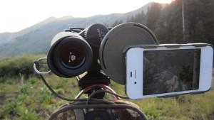 PhoneSkope Digiscoping with binoculars