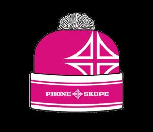 Pink Phone Skope Beanie