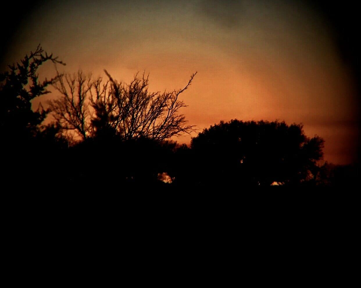 Spotting Scope Sunset