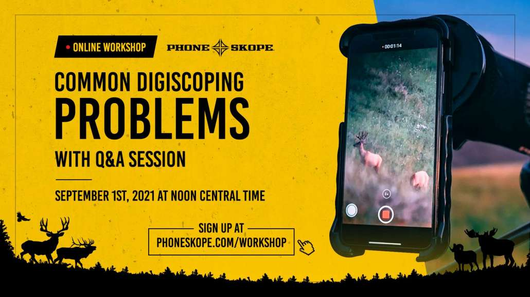 Smartphone digiscoping workshop