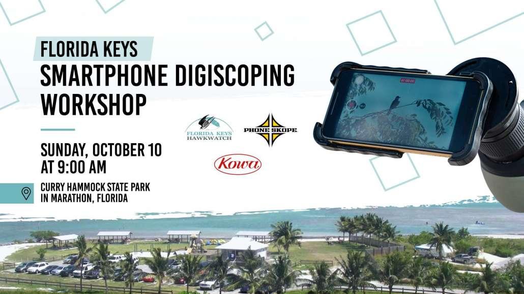 Smartphone digiscoping workshop at the Florida Keys Hawkwatch